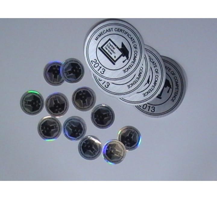 Round Metallic Stickers