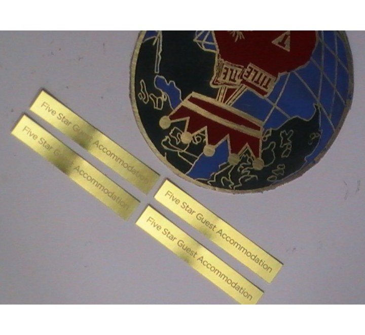 Golden Metal Stickers