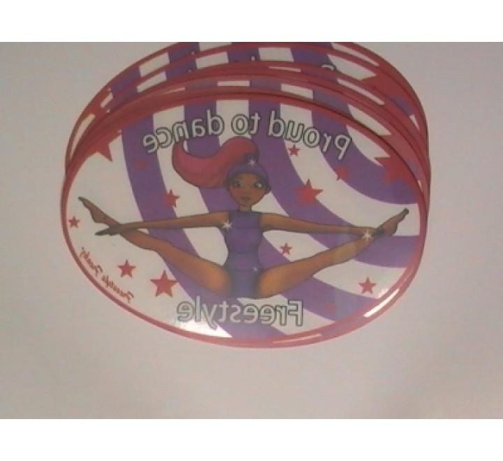 Oval Clear Vinyl Sticker