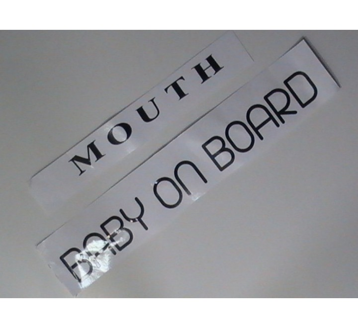 Rectangular Letter Cut Stickers