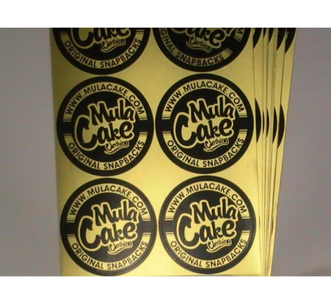 Yellow Colour Metallic Stickers