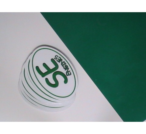 Green Colour Metallic Stickers