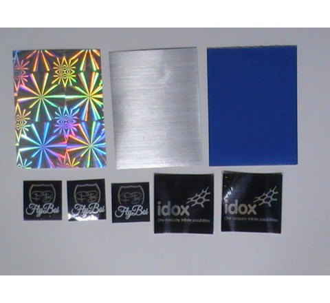 Blue Colour Metallic Stickers